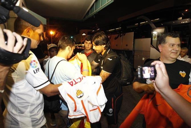 Llegada del Valencia CF a Miami