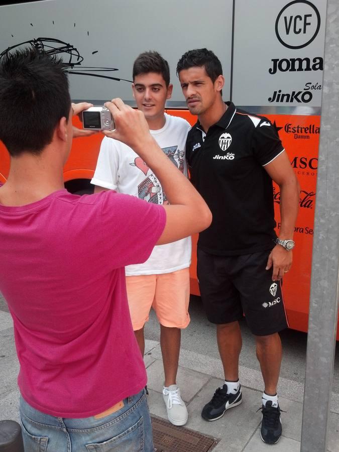 El Valencia llega a Barcelona para jugar ante el Espanyol