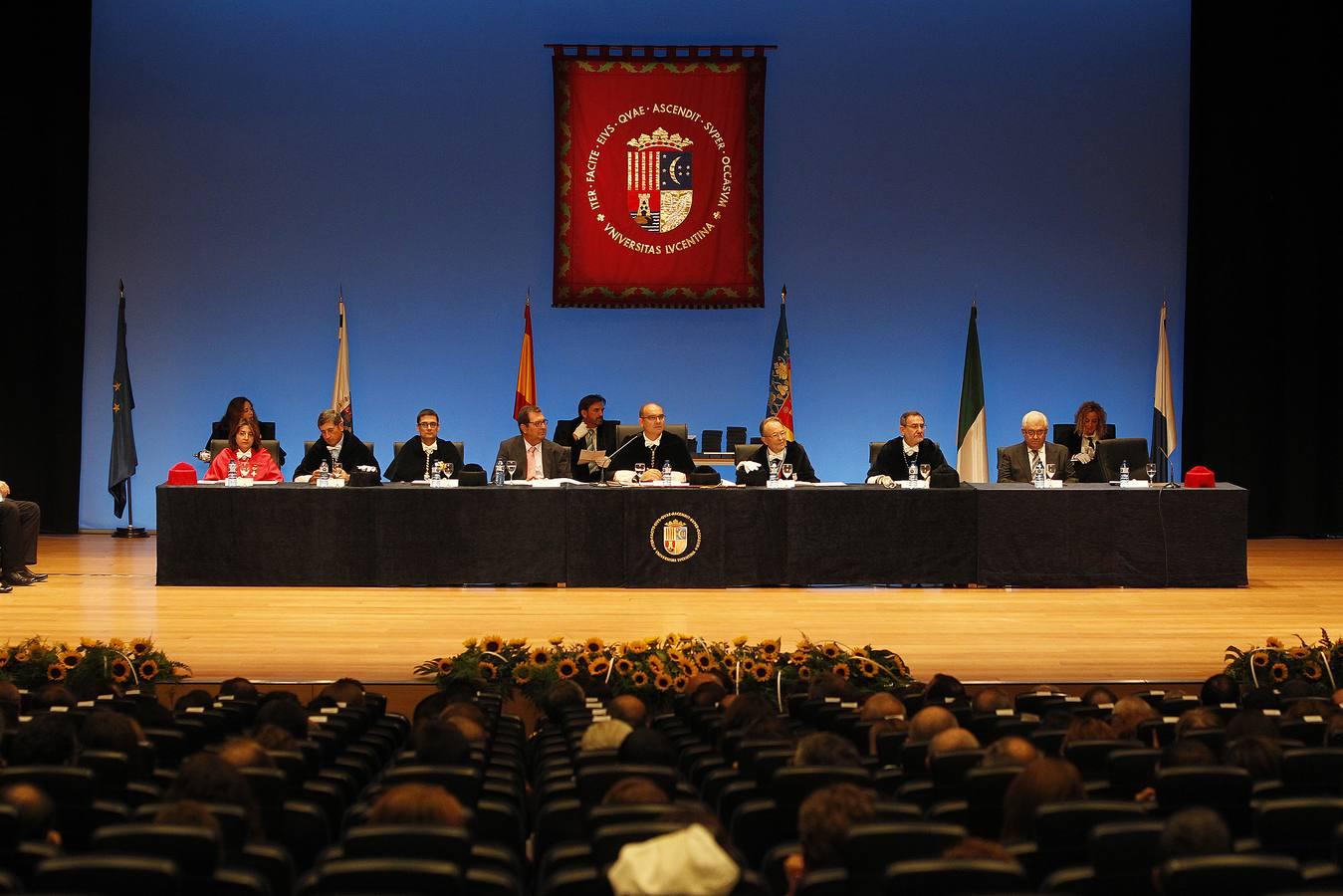 Acto de apertura del curso académico en la Universidad de Alicante