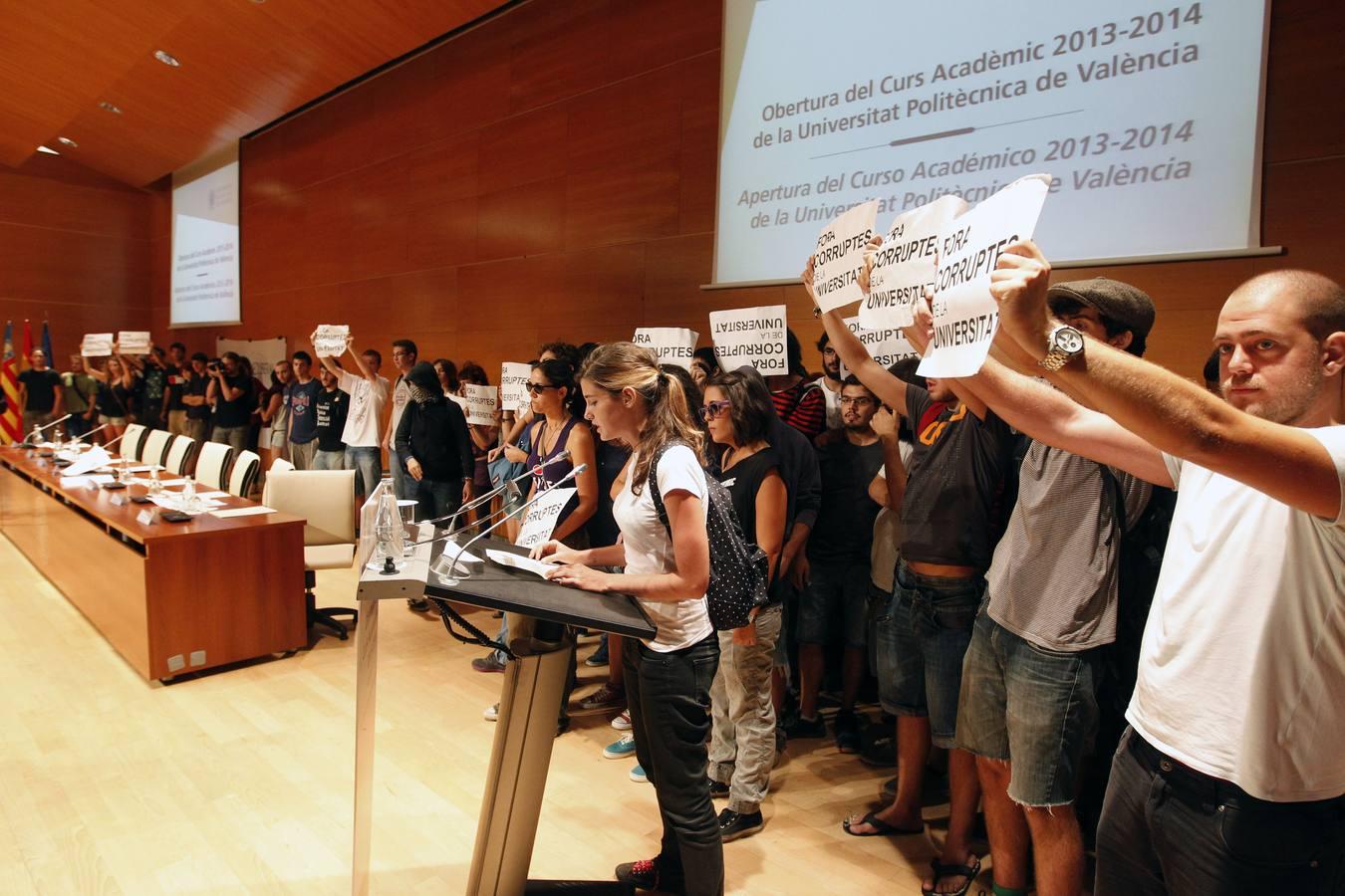 Protesta de Estudiantes en la Politècnica de Valencia en el arranque del curso