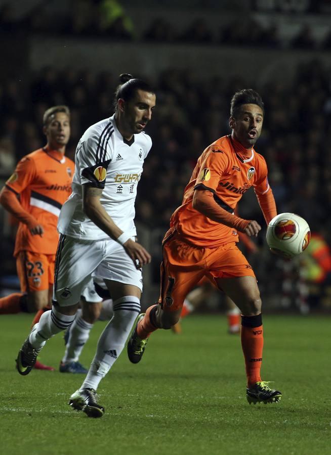 Las mejores imágenes del Swansea-Valencia