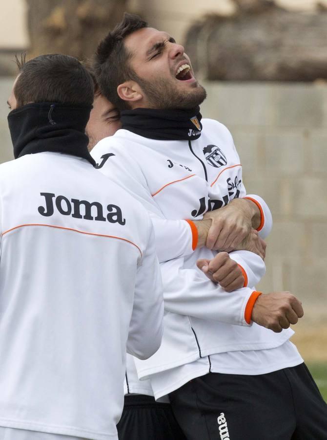 Así ha sido el entrenamiento del Valencia en Paterna