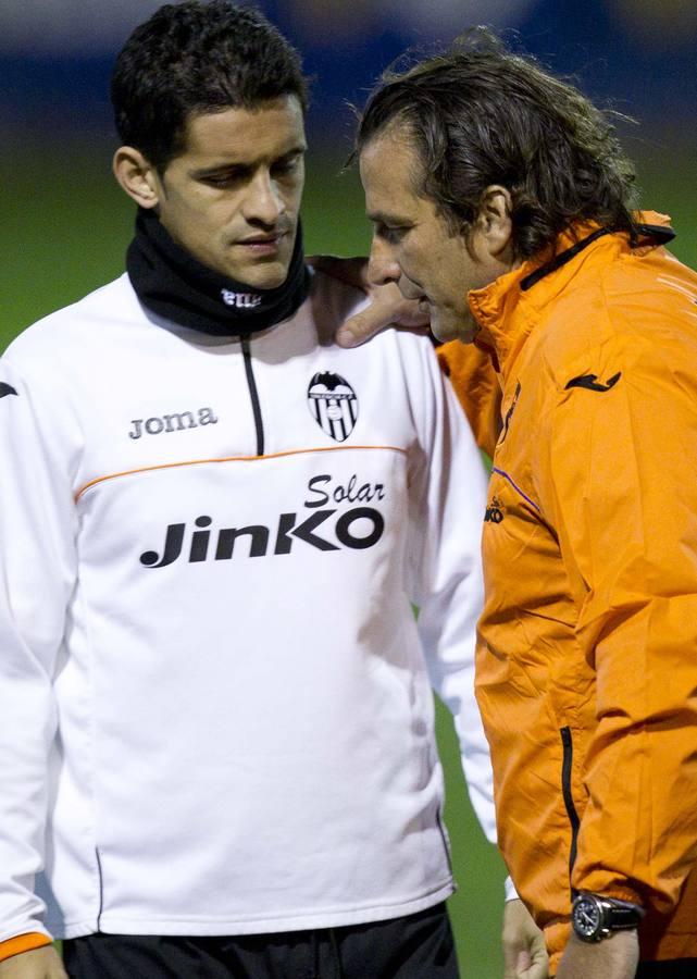 Primer entrenamiento de Pizzi con el Valencia