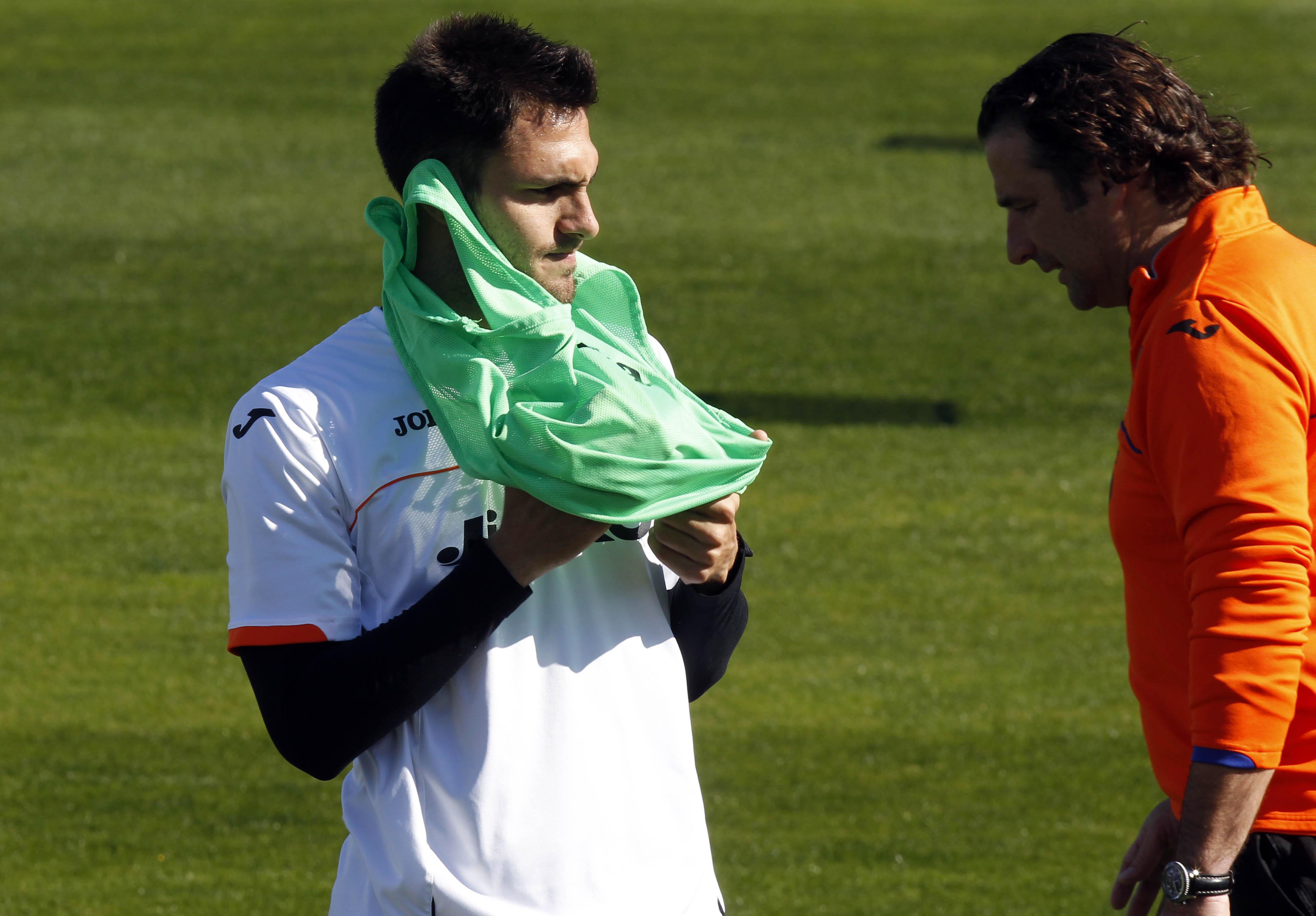 El entrenamiento del Valencia, en imágenes