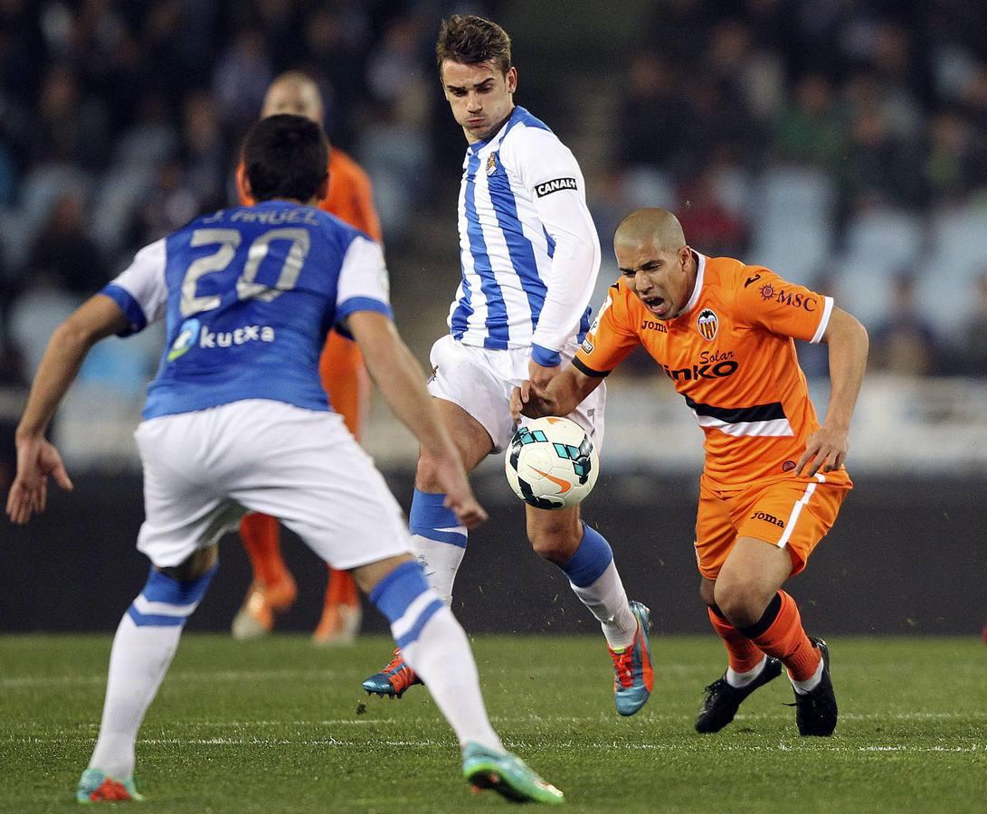 Las mejores imágenes del partido Real Sociedad-Valencia
