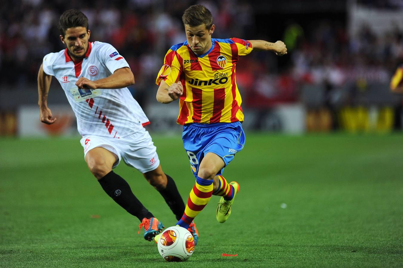 El Sevilla-Valencia de la UEFA Europa League, en imágenes (1)
